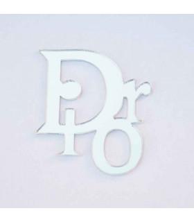 Dior plata 30x35mm