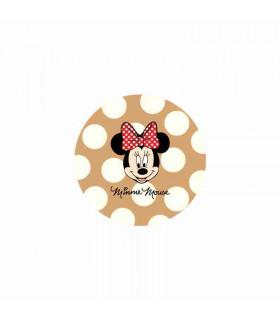 Minnie Mouse Lunares Grandes Camel/Crema