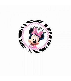 Minnie Mouse cebra/lunares ROSA