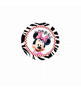 Minnie Mouse cebra/lunares ROJO