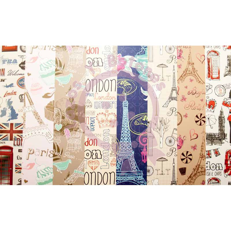 Kit de papel scrap paris y londres papel de scrapbooking - Magasin de scrapbooking paris ...