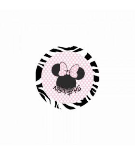 Minnie Mouse SILUETA cebra/lunares ROSA