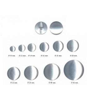 Botones de aluminio para forrar | Varias Medidas