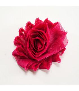 Flor de tul ROSA 60mm
