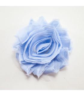 Flor de tul AZUL ISLA 60mm