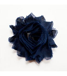 Flor de tul AZUL BEBÉ 60mm