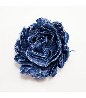 Flor de tul CREMA 60mm