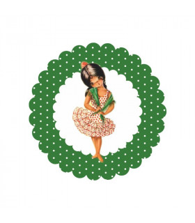 Flamenca lunares verde esmeralda