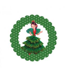 Flamenca lunares verde esmeralda 2