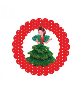 Flamenca lunares rojo