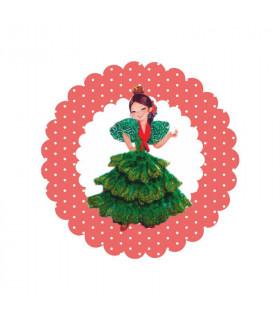Flamenca lunares rosas