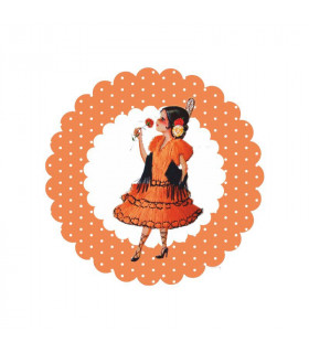 Flamenca lunares coral
