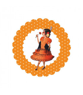 Flamenca lunares naranja