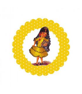 Flamenca lunares amarillo
