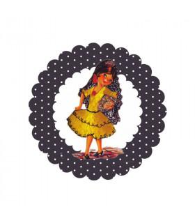 Flamenca lunares negro 2