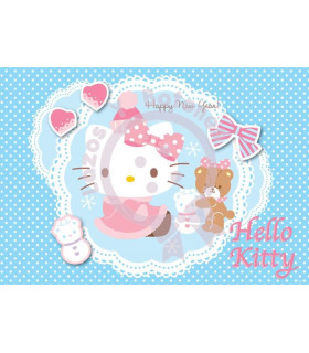 Hello Kitty camafeo azul