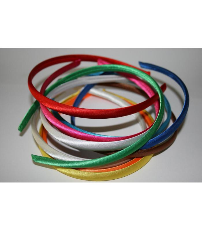 Diademas Forradas Satinadas 10mm - Varios colores