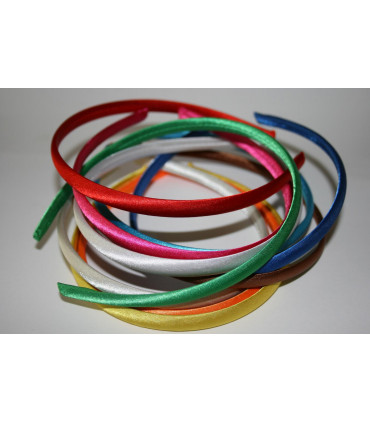 Diademas Forradas Satinadas 10mm - Varios colores