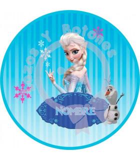 Elsa FROZEN redonda