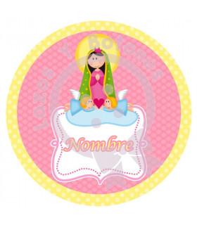 Virgencita redonda ROSA