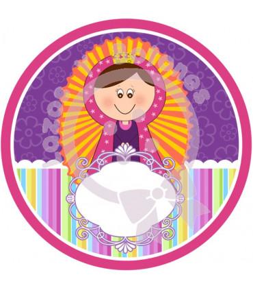 Virgencita ovalado ROSA
