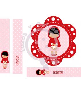Caperucita roja rosa/rojo