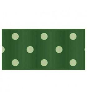 Lunares Verde cazador/blanco 38mm