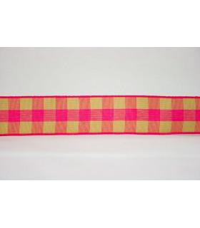 Vichy fucsia/rosa 22mm