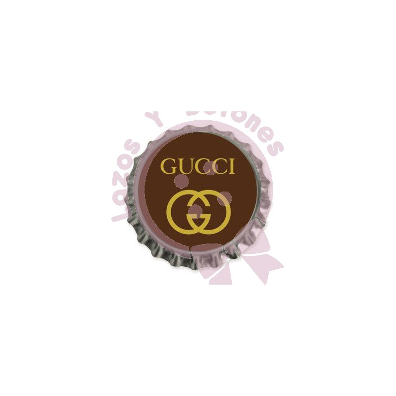 Gucci MarronDorado  Chapa Personalizada