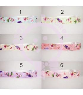 Flores PERGAMINO SATINADA 25mm - Varias opciones