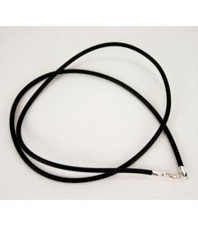 Cordón de Cuero CIERRE PLATA - 42cms