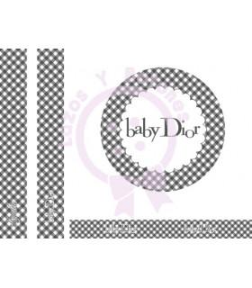 BABY DIOR VICHY - Gris oscuro
