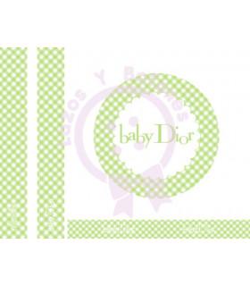 BABY DIOR VICHY - Verde Manzana