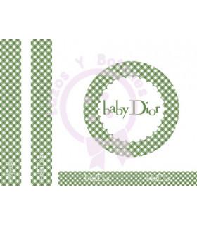 BABY DIOR VICHY - Verde