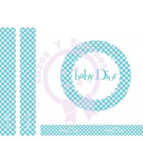BABY DIOR VICHY - Turquesa