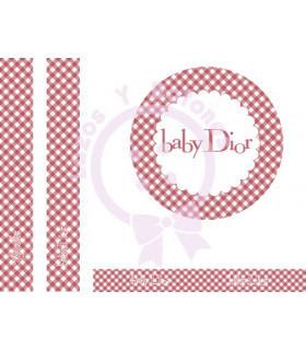 BABY DIOR VICHY - Rojo oscuro