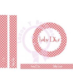 BABY DIOR VICHY - Rojo