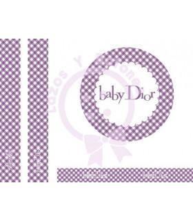 BABY DIOR VICHY - Morado
