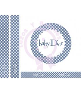 BABY DIOR VICHY - Azul oscuro