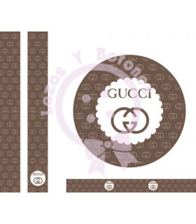 GUCCI MINI LOGO - Cookies/camel