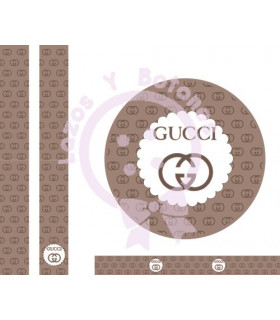 GUCCI MINI LOGO - Camel/cookies