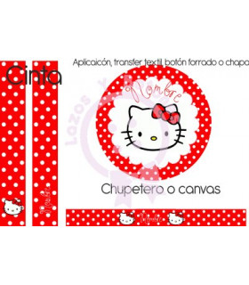 HELLO KITTY LUNARES ROJO - CARITA