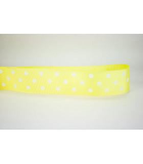 Lunares amarillo suave/blanco 38mm