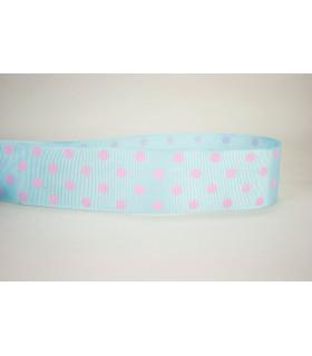 Lunares Azul bebé/rosa 38mm
