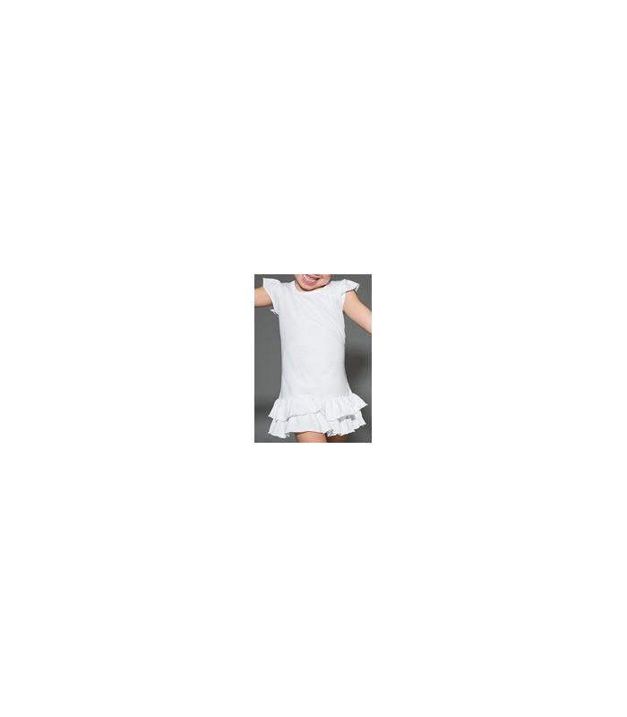 Vestido VOLANTES blanco - Varias tallas