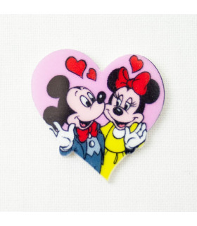 MINNIE & MICKEY CORAZÓN 30*32mm