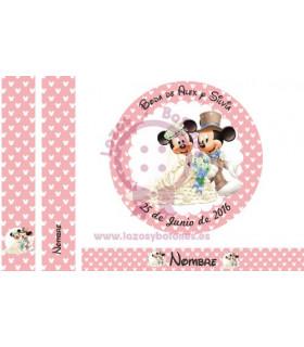MINNIE & MICKEY WEDDING - LUNARES ROSA 3