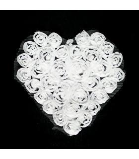 Corazón de tul 80x80mm - Varios colores