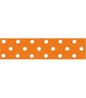 Lunares grandes naranja/blanco 22mm