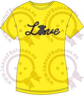 Vinilo textil LOVE LINEAL TOUS INSPIRADO